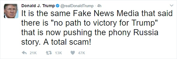 Donald Trump tweets about NBC.