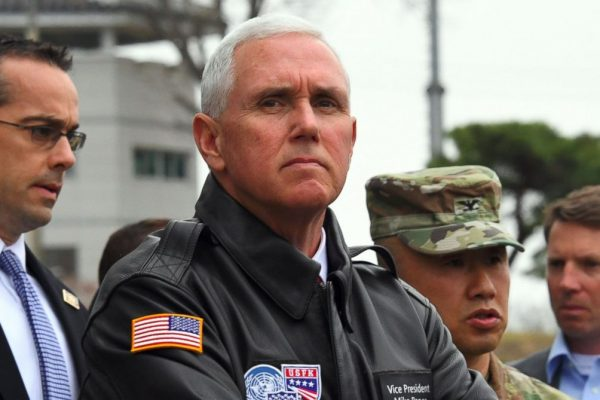 Mike Pence says U.S. policy toward North Korea is changing.