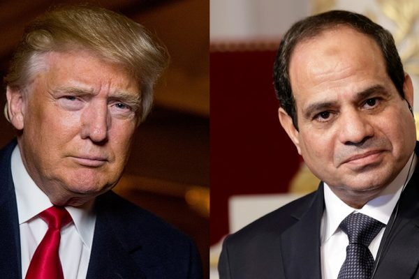 Donald Trump calls Egypt leader a great friend and ally.