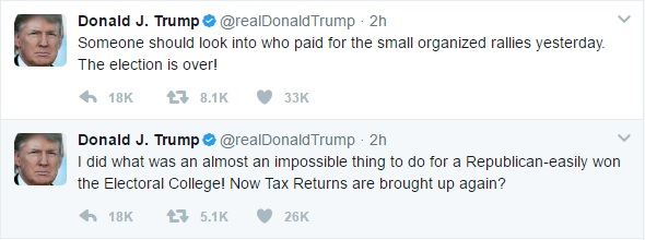 President Donald Trump claims protesters are paid.