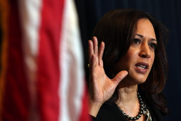Sen. Kamala Harris silenced during senate hearing.