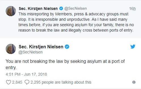 Nielsen defends immigration policy